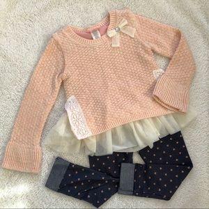 Girls Sweater & Pants Set